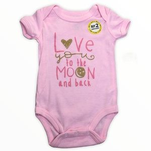 Swiggles Infant Girls Onesie Love You to The Moon